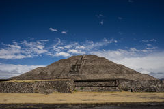 Ancient mexican pyramid. Near Mexico-city Royalty Free Stock Photo