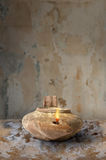 Ancient Middle Eastern Oil Lamp Stock Photography