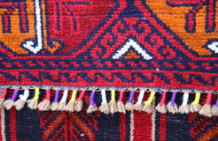 Ancient Middle Eastern rugs handmade textile frame Royalty Free Stock Photography