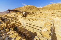 Free Ancient Mikveh In Qumran, North West Of The Dead Sea Royalty Free Stock Photography - 213662087