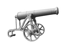 Ancient military cannon Stock Photos