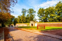 Ancient military fortress main gate Stock Photography