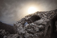 Ancient military ruins Royalty Free Stock Photos