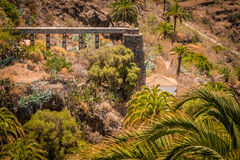 Ancient mill and aqueduct in Fataga Royalty Free Stock Photography