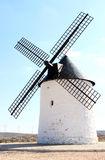 Ancient mill in La Mancha near Pozo Canada, Spain. This traditional old Spanish windmill is situated in Pozo Canada. Mills in La Mancha are the most famous and Royalty Free Stock Photo
