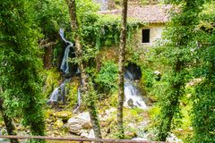 Ancient mill of Morigerati. The ancient water mill in the natural reserve of Morigerati, by Bussento river in Cilento National Park, Salerno province, Camania Royalty Free Stock Photo