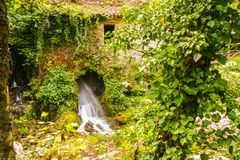 Ancient mill of Morigerati. The ancient water mill in the natural reserve of Morigerati, by Bussento river in Cilento National Park, Salerno province, Camania Stock Photography