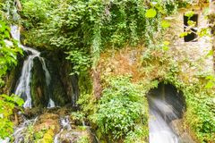 Ancient mill of Morigerati. The ancient water mill in the natural reserve of Morigerati, by Bussento river in Cilento National Park, Salerno province, Camania Royalty Free Stock Image