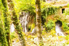 Ancient mill of Morigerati. The ancient water mill in the natural reserve of Morigerati, by Bussento river in Cilento National Park, Salerno province, Camania Stock Image