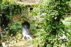 Ancient mill of Morigerati. The ancient water mill in the natural reserve of Morigerati, by Bussento river in Cilento National Park, Salerno province, Camania Stock Photo