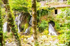 Ancient mill of Morigerati. The ancient water mill in the natural reserve of Morigerati, by Bussento river in Cilento National Park, Salerno province, Camania Royalty Free Stock Images