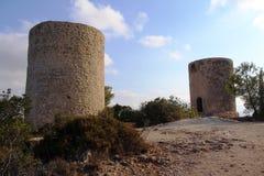Ancient mills Royalty Free Stock Photos