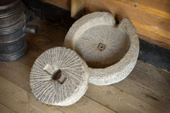 Ancient millstone Stock Image