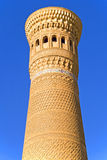 Ancient Minaret, the highest in Bukhara Royalty Free Stock Photos