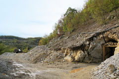 Ancient mine of antimony in West Serbia Royalty Free Stock Images