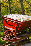 Ancient mine chariot I royalty free stock image
