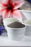 Ancient minerals - luxury face and body spa treatment, clay powd Royalty Free Stock Photography
