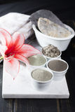 Ancient minerals - luxury face and body spa treatment, clay powd Royalty Free Stock Photos