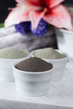 Ancient minerals - luxury face and body spa treatment, clay powd Royalty Free Stock Images