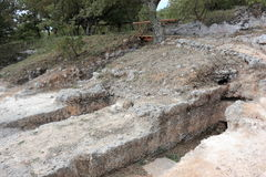 Ancient Minoan cemetery of Armeni. Crete, Greece. Royalty Free Stock Photo