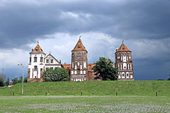 Ancient Mir Castle Complex in Belarus Royalty Free Stock Photo