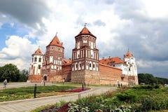 Ancient Mir Castle Complex in Belarus Stock Images