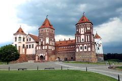 Ancient Mir Castle Complex in Belarus Royalty Free Stock Images