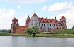 Ancient Mir Castle Complex in Belarus Stock Photos