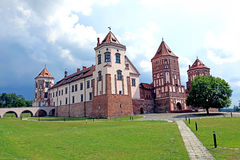 Ancient Mir Castle Complex in Belarus Stock Photo