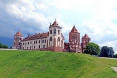 Ancient Mir Castle Complex in Belarus Stock Image