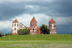 Ancient Mir Castle Complex in Belarus Royalty Free Stock Photos