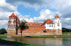 Ancient Mir Castle Complex in Belarus Stock Photography