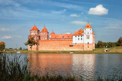 Ancient Mir Castle. Textured wall Royalty Free Stock Photography