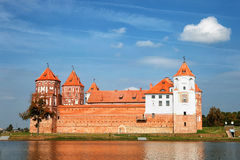 Ancient Mir Castle. Textured wall Stock Image