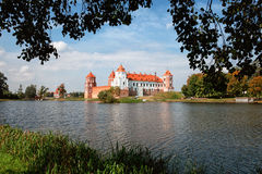 Ancient Mir Castle. Of 13th century, Belarus. textured wall Stock Image