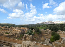 Ancient and modern Agrigento Royalty Free Stock Photography