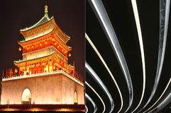 Ancient and modern architecture Royalty Free Stock Photos