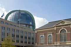Ancient and modern architecture, city Leeuwarden Stock Photos