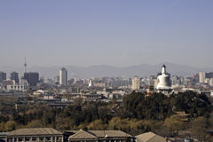 Ancient and modern Beijing. China panoramic view royalty free stock images