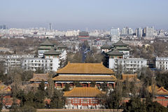 Ancient and modern Beijing. China panoramic view royalty free stock photo