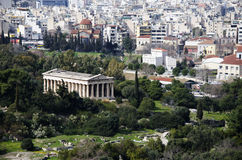 Ancient and modern greece. Royalty Free Stock Image