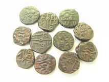 Ancient Moghul Coinage Stock Image