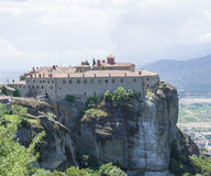 Ancient monasteries Greek meteors Royalty Free Stock Photography
