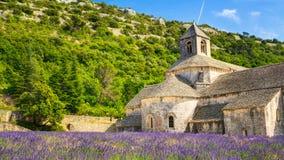 Ancient monastery Abbaye Notre-Dame de Senanque, Notre-Dame de Senanque abbey Stock Photography