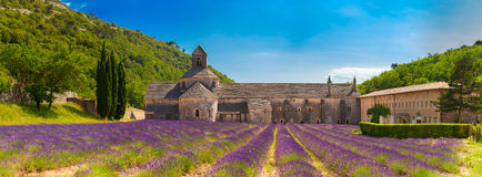 Ancient monastery Abbey Notre-Dame de Senanque in Vaucluse, France Royalty Free Stock Photos