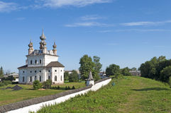 Ancient Monastery of Archangel Michael in Yuriev-Polsky. View of ancient orthodox monastery of Archangel Michael in Yuriev-Polsky, Russia royalty free stock photos