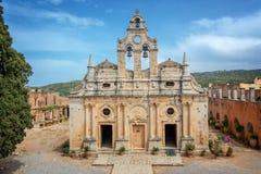 Ancient monastery of Arkadi, Crete Greece. Ancient monastery of Arkadi, Crete, Greece Stock Photo