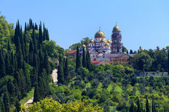 Ancient monastery in the city New Athos Royalty Free Stock Photos