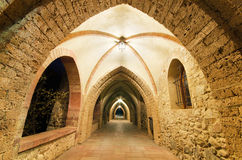 Ancient monastery corridor. Stock Photos