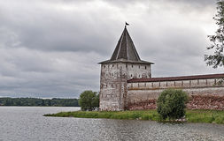 Ancient monastery on the lake Royalty Free Stock Photography